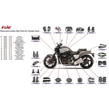 Carbon Fiber Parts for YAMAHA Vmax 2007/2012