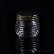 Glaskerzenbehälter mit Metalldeckel