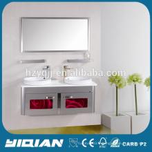 Cabinet de toilette en acier inoxydable à double évier design Hangzhou Factory