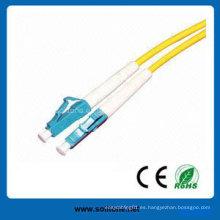 LC Single Mode Duplex Cable de conexión de fibra óptica
