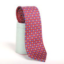 Cree su propia impresión de seda de la etiqueta de los hombres de la marca corbata personalizada