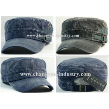 New design washed cotton blank military cap