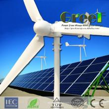Système d'alimentation 5kW vent solaire hybride pour la ferme, accueil, Commercial