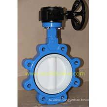PTFE Coating Lug Butterfly Valve