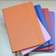 Custom 2016 Agenda Diary, Cheap A5 PU Leather Notebook with Elastic Band