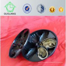 China hizo las cajas de ostra plásticas modificadas para requisitos particulares del mercado al por mayor popular de Irlanda los EEUU, bandeja de la ostra en restaurante