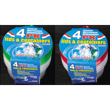 Runde Plastik nehmen weg Microwavable Nahrungsmittelbehälter 25oz