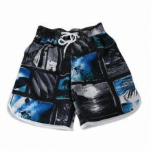 Quick dry polyester peach skin boardshorts, soft texture and comfortable to wear
