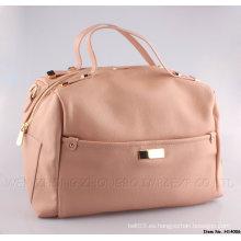 Nuevos bolsos de señora Fashion Leather con cremallera SGS