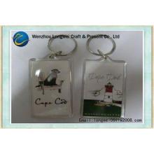 Rectangle photo acrylic gift key chain / blank acrylic keyc