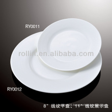 healthy special durable white porcelain flat plate