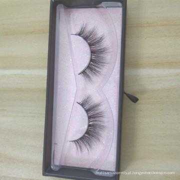 Private Label atacado vison cílios caixa de embalagem 3D Mink Lashes