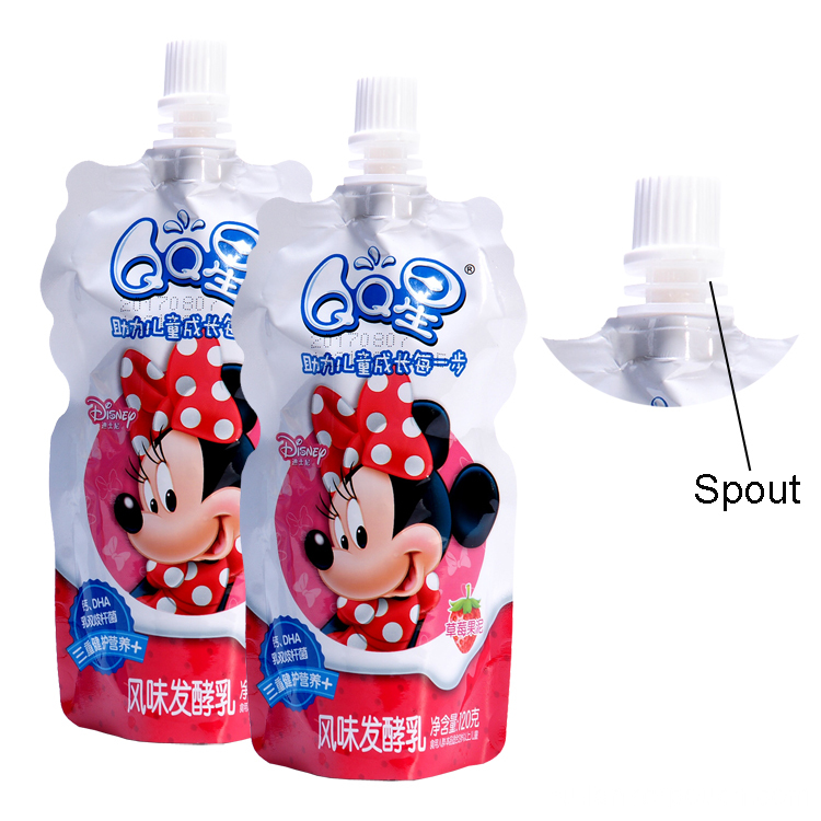 Spout Pouches With Cap Milk Packaging Bag