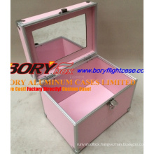 Small Metal Case Makeup Brush Case with Mirror