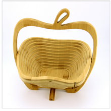 Wooden Folding Collapsible Fruit Vegetable Basket
