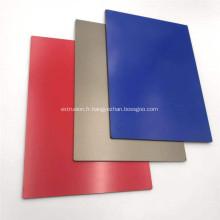 Panneau composite en aluminium ignifuge PVDF bleu pour décorer