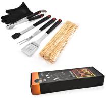 6PCS PP Handle BBQ Set With Color Box