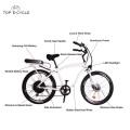 Bicicleta para hombre del crucero de playa de la bicicleta del interruptor del marco de aluminio / bicicleta eléctrica de la bici