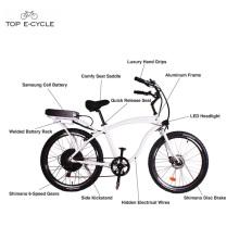 Adulte aluminiumframe motorisé plage cruiser bicyclettes / vélo électrique vélo