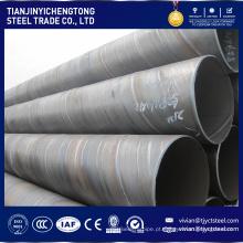 Fabricante de fábrica de grande diâmetro tubo de aço corrugado ms preço por kg