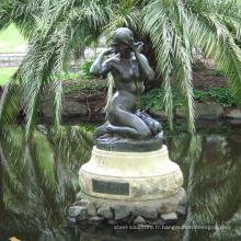 grandes sculptures de cuivre en plein air métal artisanat bronze femme nue statue