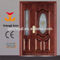 European classic style steel front door with oval glass