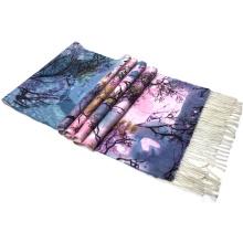 2017 best selling wholeslae trendy my own digital tree printed wing scarf