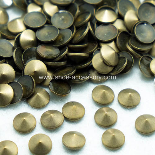 4mm Gun Metal Cone Nailheads Iron-on