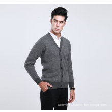 Yak Wool /Cashmere V Neck Cardigan Long Sleeve Sweater/Clothing/Knitwear/Garment