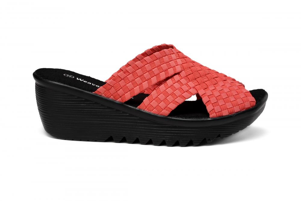 Red Woven Slippers