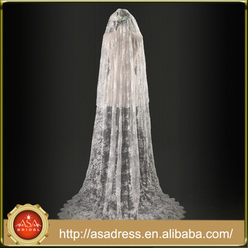 Custom Made Beautiful 300cm Lace Veils Wedding Bridal Veils (WV4)