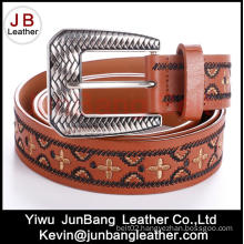 Woment′s Embroidery Fashion Jeans PU Belt