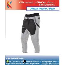 Novas calças esportivas casuais de lã para homens e mulheres. Calças masculinas de algodão personalizadas