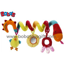 Colorful Plush Baby Bed Hanging Toys Plush Baby Stroller Toys