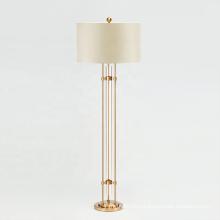 Guzhen lighting hot sale modern fabric hotel standing floor lamp