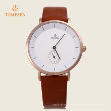 Dial redondo de cuarzo para hombres con reloj de pulsera pequeño de segunda esfera 72409