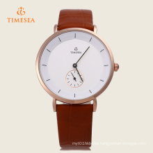 Men Quartz Round Dial with Small Second Dial Wristwatch 72409