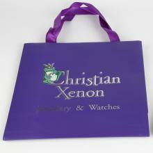 Custom Shopping Luxury Purple Christmas Paper Gift Bag