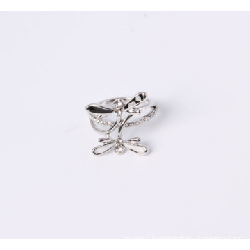 Fashion Jewelry Ring with Dragonfly with Enamel and Rhinestones