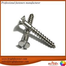 DIN95 Slotted Raised Countersunk Head Wood Screw