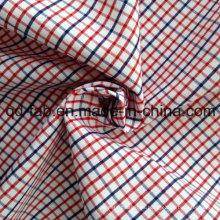 Hilado de algodón Tela teñida de tela escocesa (QF13-0218)