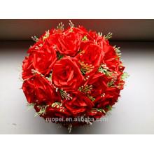 Seda artificial / rosa flor bola para casamento ou festival decoração
