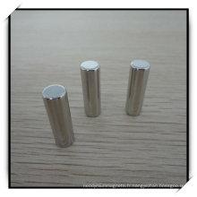 N45h cylindre Permanent aimant de NdFeB de nickelage