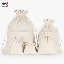 Plain canvas drawstring bag for sale