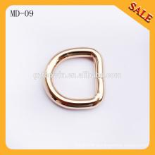 MD09 Hebilla hecha a mano del perro de la forma del semicírculo del color del oro para la correa