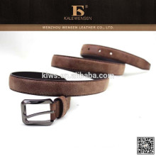 Best quality hottest selling popular brown color fashion tan suede belt strap
