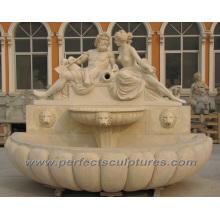 Fontaine de jardin pour fontaine d'eau de marbre en pierre (SY-W156)