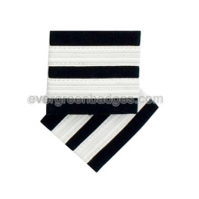 Short White Ribbon Epaulette