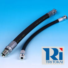 High pressure steam hose for construction machinery and industrial vehicles. Manufactured by Tokai Rubber. Made in Japan
