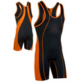 100% poliestere sublimato team stampa wrestling singlet